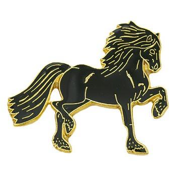 "Pin ""Friese"" schwarz/gold"