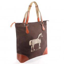 Burghley Tote Bag, dunkelbraun